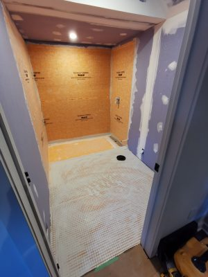 custom basement bathroom drywall install - home bath renovations