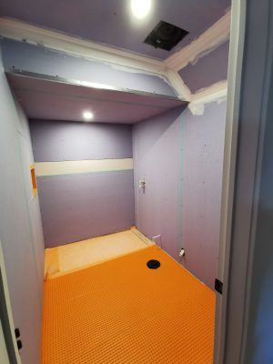 basement bathroom with finished drywall - ottawa renovation companies